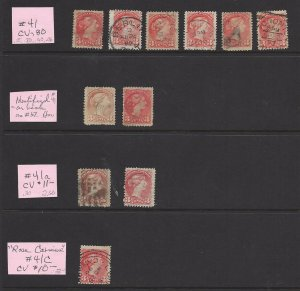 Canada 41 and Variations Multiples Used See Scan