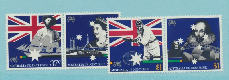 Australia Scott #1082 To 1085, Mint Never Hinged MNH, Joint Stamp Issue With ...
