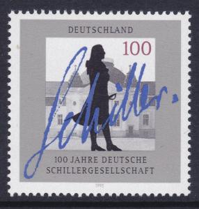 Germany 1893 MNH 1995 Schiller Society Centenary Issue