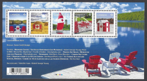 Canada #2611 MNH ss, Canadian flag on various items, issued 2013