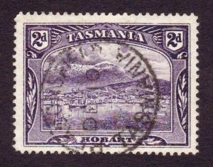 Australia Tasmania 1899 Scott88 2d Deep Violet Hobart FU