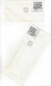 United Nations U3 & 3a, Postal Stationery,  No Cachet FDC