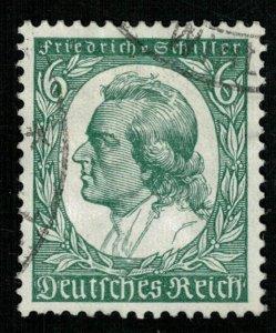 1934, Friedrich Schiller, 6 Pfg., Reich (T-8130)