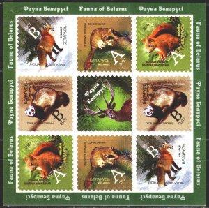 Belarus. 2007. Small sheet 685-88. Fauna of Belarus. MNH.