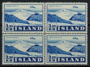 Iceland #C29* Block of 4  CV  $34.00
