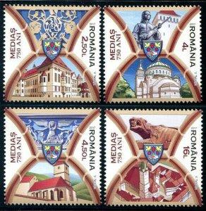 HERRICKSTAMP NEW ISSUES ROMANIA Sc.# 5984-87 750 Years Medias
