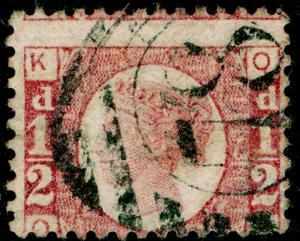 SG48, ½d rose-red PLATE 13, USED. Cat £25. OK