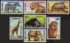 Mongolia 1996-2003,MNH.Michel 2293-2300,Bl.171. African animals:Zebras,Cheetah,