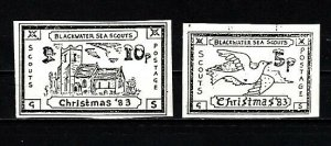 Great Britain, 1983 issue. Blackwater Sea Scouts Christmas Post labels.