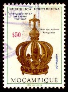 Mozambique 1967 Virgin's Crown, Virgin Mary, Fatima 50c Scott.480 Used (#4)