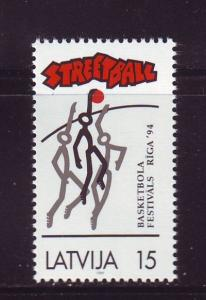Latvia Sc 362 1994 Street Ball stamp mint NH