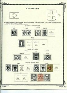 SWITZERLAND COLLECTION -  MINT & USED  -  SCV $1354.00