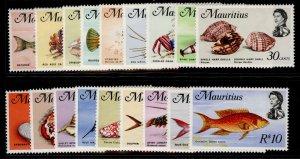 MAURITIUS QEII SG382-399, 1969 complete set, NH MINT. Cat £27.