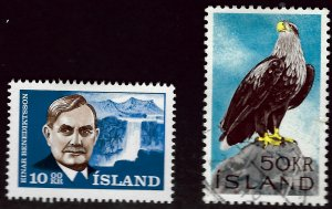 Iceland #377 Mint #378 Used F-VF Value $16.50...Bid to win!!