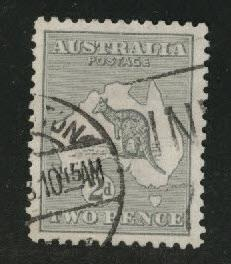 Australia Scott 45 Used Kangaroo & Map 1915-24