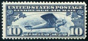 HERRICKSTAMP UNITED STATES Sc.# C10 10¢ Lindberg NH Stamp