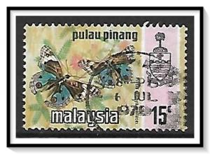 Penang #79a State Crest & Butterflies Used