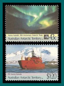 AAT 1991 Antarctic Treaty, MNH #L81-L82,SG88-SG89