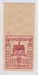 Finsterwalde WWII Germany World War II Local Stamp 1946 40+35pf MNH** A20P4F193