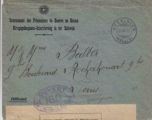 1917, Reckingen Internment Camp, Switzerland, See Remark (C3055)