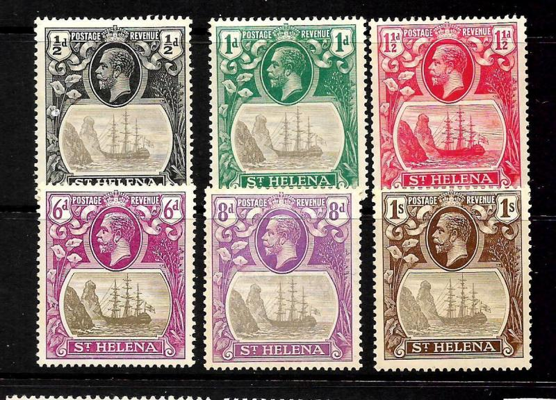ST HELENA  1922-37  SHIP PART SET 6    MH