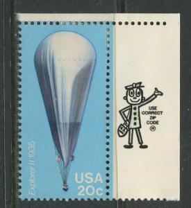 USA - Scott 2035 - Balloons - 1983 - MLH - Single 20c Stamp