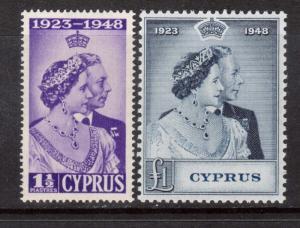 Cyprus #158 - #159 VF/NH Set