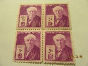 SCOTT 945 3 CENT THOMAS EDISON 1947 OG