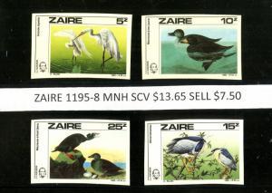 ZAIRE 1095-8 MNH SCV $13.65