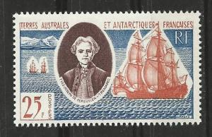 French Southern & Antarctic # 20  Discoverer, ship   (1)  Unused VLH