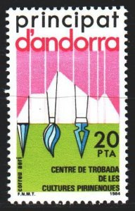 Andorra. 1984. 179. Center for Cultural Meetings in the Pyrenees, by the arti...