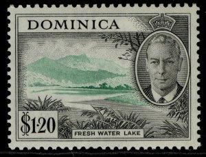 DOMINICA GVI SG133, $1.20 emerald & black, LH MINT.
