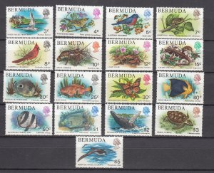 J26600 JLstamps 1976-9  bermuda set mlh/mh #363-79 wildlife