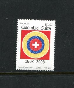 Colombia 1291, MNH, Treaty of Amity and Commerece 2008. x23523