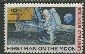 USA- Scott C76 - Moon Landing -1969 -MLH - Single 10c Stamp