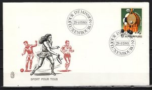 Luxembourg, Scott cat. 643. Sports Equipment Issue. First day cover. ^