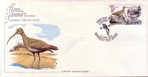 Alderney FDC SC# 19 Curlew L83