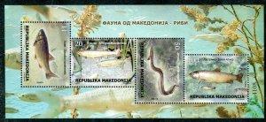 299 - MACEDONIA 2018 -- Fauna - Fish - MNH Souvenir Sheet