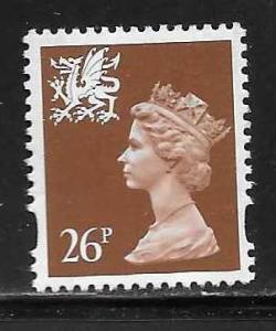 Great Britain Wales WMMH61 26p Machin MNH