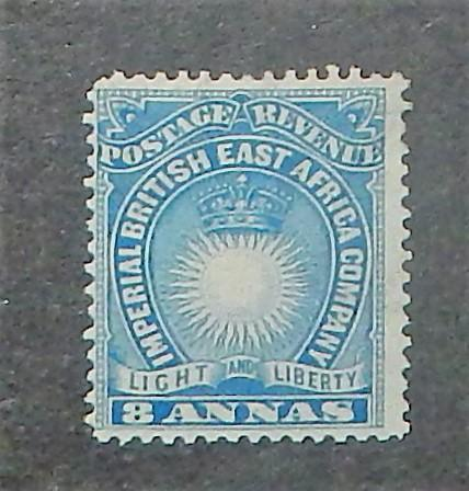 British East Africa 23. 1890-94 8a Blue