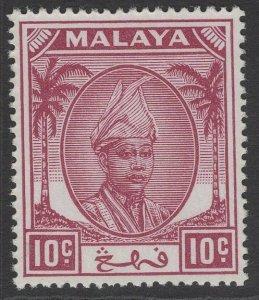 MALAYA PAHANG SG61 1950 10c MAGENTA MNH