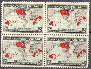 Canada #85i Block Mint  VF    - Lakeshore P...