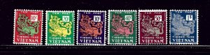 South Vietnam J1-6 MNH 1952 Postage Dues