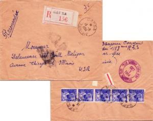 Tunisia 15F Sidi Bou Said Street Corner (5) 1954 Gafsa, Tunisie Registered to...