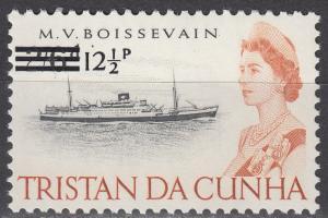 Tristan Da Cunha - 1971 QEII 12 1/2p on 2sh 6p - MNH (9534)