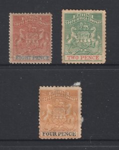Rhodesia x 3 mint old ones