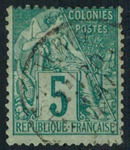 French Colonies Scott 49 Used.