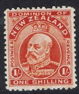 NEW ZEALAND 1909 KEVII 1/- PERF 14