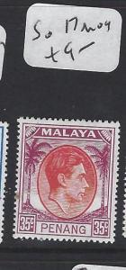 MALAYA PENANG  (PP2303B)  KGVI 35C   SG 17    MOG