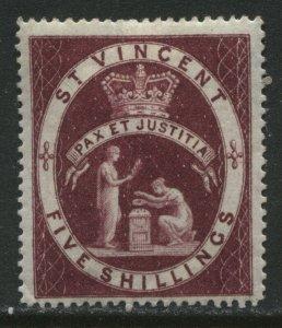 St. Vincent QV 1888 5/ mint o.g. hinged